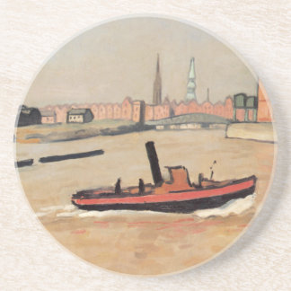 Vintage Port of Hamburg Germany Drink Coaster