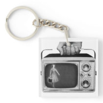 Vintage Portable Television Keychain
