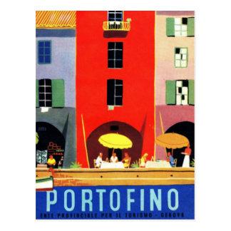 Vintage Portofino Génova Italia Tarjeta Postal