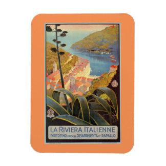 Vintage Portofino Italian Riviera travel poster Magnet
