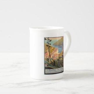 Vintage Portofino Italian Riviera travel poster Tea Cup