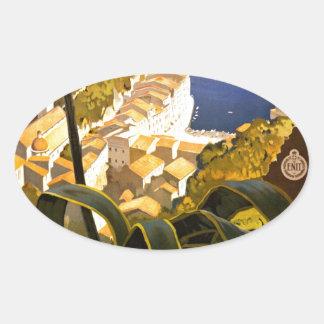 Vintage Portofino Italy Oval Sticker