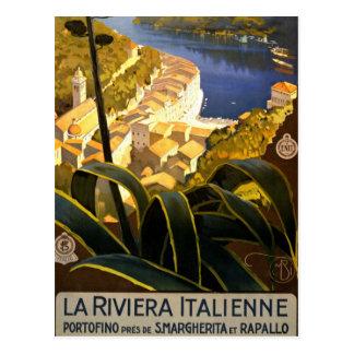 Vintage Portofino Italy Postcard