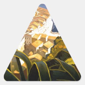 Vintage Portofino Italy Triangle Sticker