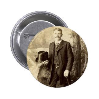 Vintage Portrait Gentleman Pin