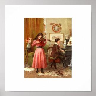 Vintage Portrait Music Poster 15x15