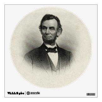 Vintage Portrait of Abraham Lincoln Wall Sticker
