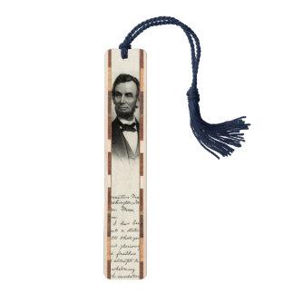 Vintage Portrait of Abraham Lincoln Walnut Bookmark