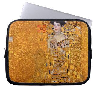 Vintage Portrait of Adele Gustav Klimt GalleryHD Computer Sleeve