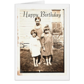 Vintage Portrait of Brothers and Sisters Card