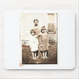 Vintage Portrait of Brothers and Sisters Mouse Pad