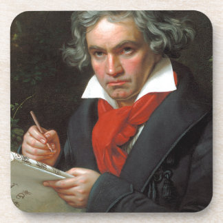 Vintage portrait of composer, Ludwig von Beethoven Beverage Coaster