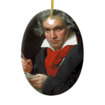 Vintage portrait of composer, Ludwig von Beethoven Ceramic Ornament