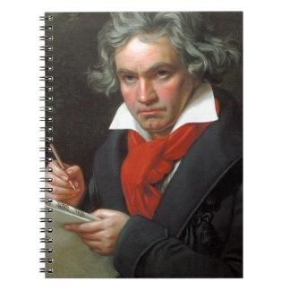 Vintage portrait of composer, Ludwig von Beethoven Notebook