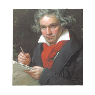 Vintage portrait of composer, Ludwig von Beethoven Notepad
