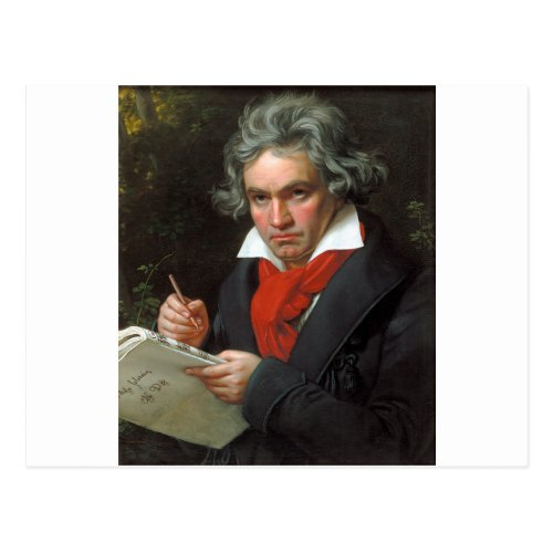 Vintage portrait of composer Ludwig von Beethoven Postcard