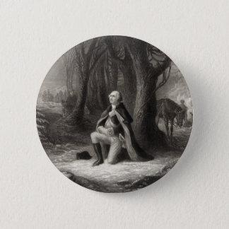 Vintage Portrait of George Washington Praying Button