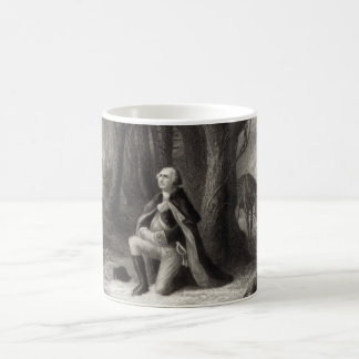 Vintage Portrait of George Washington Praying Coffee Mug