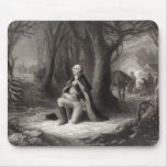 Vintage Portrait of George Washington Praying Mouse Pad