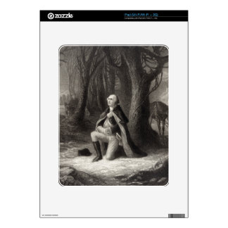 Vintage Portrait of George Washington Praying Decal For The iPad