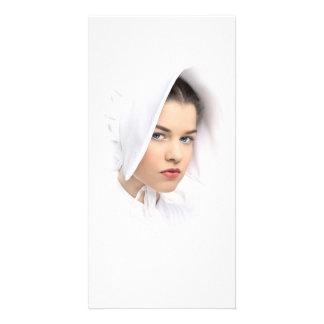 Vintage portrait personalized photo card