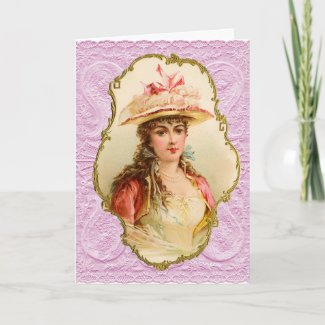 Vintage Portrait Valentine's Day Holiday Card