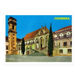 Vintage Portugal,  Coimbra monastery Post Card