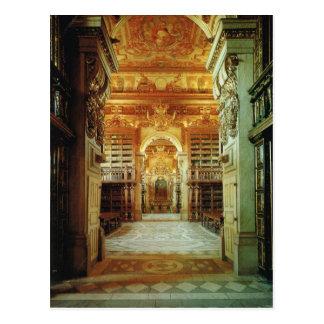 Vintage Portugal,  Coimbra, University Library Postcard