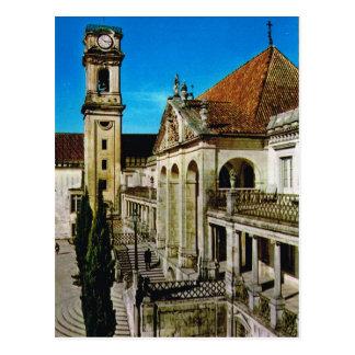 Vintage Portugal,  Coimbra, University Postcard