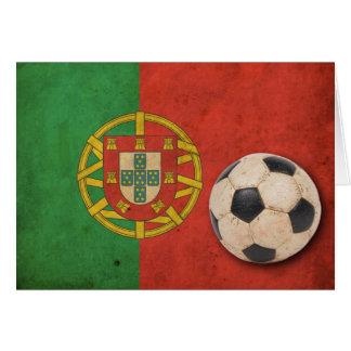Vintage Portugal Flag Card