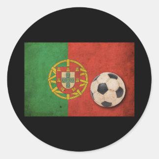 Vintage Portugal Flag Classic Round Sticker