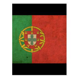 Vintage Portugal Flag Postcard