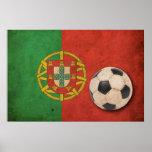 Vintage Portugal Football Poster