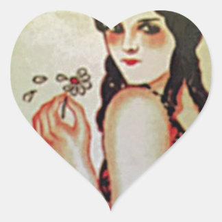 Vintage Portugal III Heart Sticker