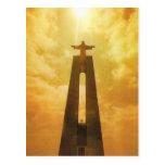 Vintage Portugal, Lisboa, iglesia de Cristo el rey Tarjetas Postales