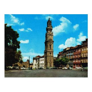 Vintage Portugal,  Porto, Torre del clergos Postcard