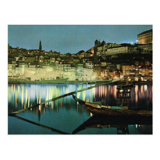 Vintage Portugal, Porto, Wine boat on the Douro Post Cards