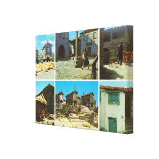 Vintage Portugal, Serra del Soajo Impresión En Lienzo Estirada