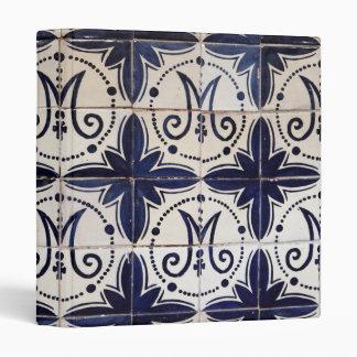 Vintage portuguese azulejo vinyl binder