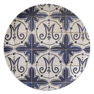 Vintage portuguese azulejo dinner plate