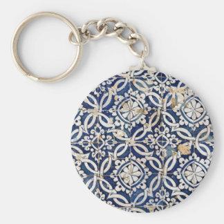 Vintage Portuguese Azulejo Keychain