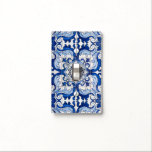 """Vintage Portuguese Azulejo Tile Pattern Light Switch Cover<br><div class=""""desc"""">Vintage Portuguese Azulejo Tile Pattern in blue and white transported to the surface of a modern Light Switch Cover, preserving its history and tradition. Azulejo is a form of Portuguese or Spanish painted, tin-glazed, ceramic tilework. It has become a typical aspect of Portuguese culture. Portugal imported azulejo tiles from Spain,...</div>"""