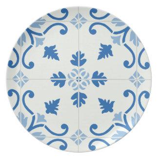 Vintage Portuguese Azulejo Tile Pattern Plate