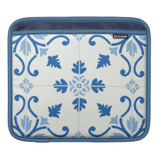 Vintage Portuguese Azulejo Tile Pattern Sleeve For iPads