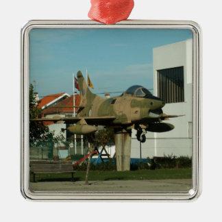 Vintage Portuguese Fighter Jet Metal Ornament
