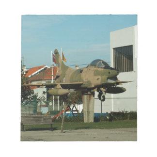 Vintage Portuguese Fighter Jet Memo Note Pads