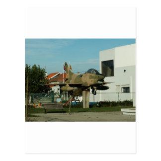 Vintage Portuguese Fighter Jet Postcard
