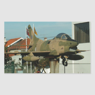 Vintage Portuguese Fighter Jet Rectangular Sticker
