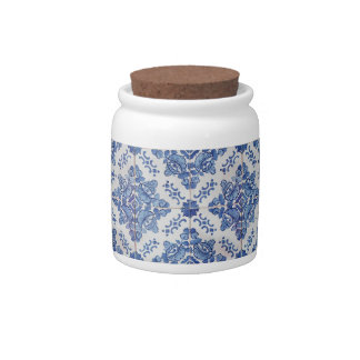 Vintage Portuguese Tile Candy Jars
