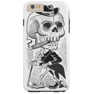 Vintage Posada Skeleton Smoking Cigar Tough iPhone 6 Plus Case